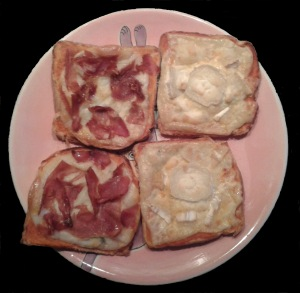 Home made sandwich-pizza!!